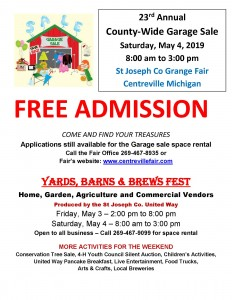 23rd Annual County-wide Garage Sale - St  Joseph County
