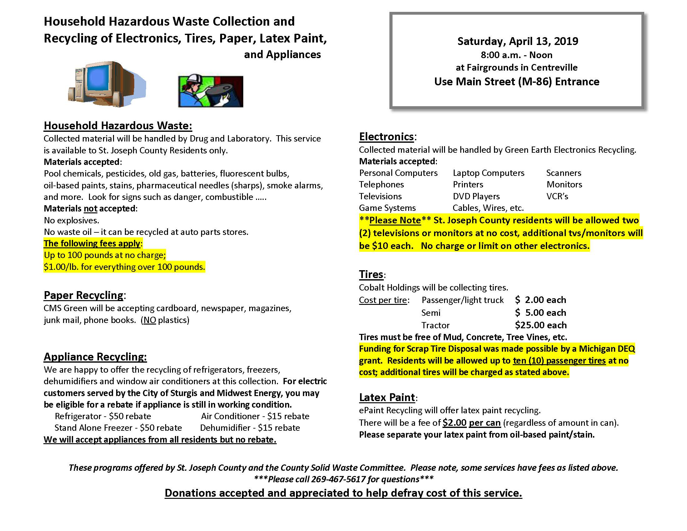 Recycling Program - St  Joseph County Grange Fair